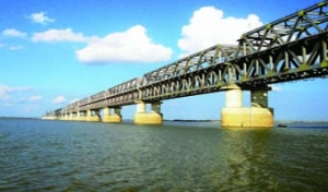 Rail-cum- Road Bridge at Patna, Bihar