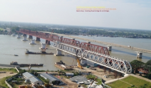 Superstructure Construction - Bhairab Railway Bridge , Bangladesh